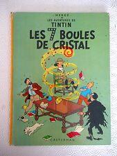 Tintin - Les 7 Boules de Cristal (Plat B38 bis) Hergé 1969