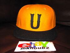 New Undefeated Undftd U Wool Snapback Hat Cap 5-Panel Black Yellow supreme camp