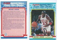 1987 Fleer Micheal Jordan 2nd year Sticker Card RP (Card not sticker)
