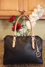 Michael Kors Black Fulton  Leather Large Tote Shoulder Bag Purse  (pu900