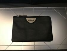 MIMCO ECHO SMALL POUCH BLACK GUNMETAL Leather Authentic New with tagRRP79.95