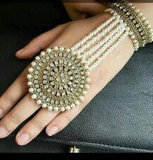 STUNNING GOLD STONES HAND CHAIN PANJA RING BRACELET HAND JEWELLERY UK SELLER