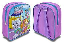 Kids Paw Patrol Girls Skye Everest Purple Junior Back Pack Ruck Sack School Bag