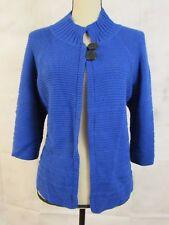 Denim & Co Cobalt Blue Women's Slinky Cable Knit Sweater Cardigan Bolero M
