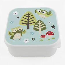 Sass and Belle Square Owls Bento Snack Box Lunch School Picnic New