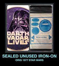 Mip Darth Vader VadAr Lives 1977 Orig Star Wars Unused Vtg t-shirt iron-on Nos
