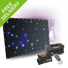 Beamz DJ Booth LED Star Cloth System RGBW Facade Table Cover DMX Remote 1.2x 2m
