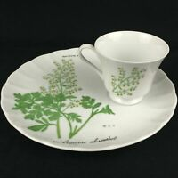 VTG Snack Plate and Cup Sigma Taste Setter Botanical Herb Armoise Absinthel