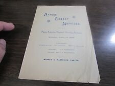 PENN AVE BARTIST CHURCH - SCRANTON PA - BULLETIN OF SERVICES - EASTER 1895