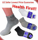Mens 3,6,12 Pairs Diabetic ANKLE QUARTER Circulatory Socks Health Cotton Color