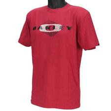 Oakley GEO T-Shirt Size M Medium Red Line Mens Mid Fit Cotton Logo Tee Shirt
