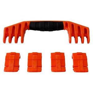 New Pelican Orange 1600 replacement latches (4) & handle (1) kits.