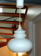 ANCIEN SUSPENSION LAMPE GLOBE OPALINE GIVRé DESIGN 70 80