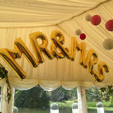 "Jumbo Gold 'Mr & Mrs' 34"" Foil Large Letters Arch - Perfect for Weddings!"