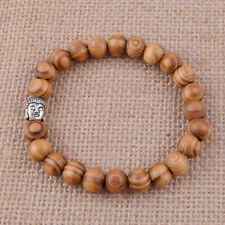 Beads Elasticity Bangle Wristband Gift 10mm Natural Wood Fashion Bracelet Buddha