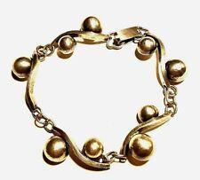 Rare TOYO KOKI CPO .960 Silver Bracelet Bubbles And Waves Occupied Japan 1940's