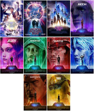 10pc Ready Player One Movie 2018 Mirror Surface Card Sticker Promo Card Poster A