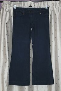 """Dorothy Perkins Ladies Stretch Flared Jeans ~ 35"""" Waist ~ Low Rise"""