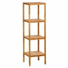 4 Tier Natural Walnut Shelves Storage Unit for Homes & Offices