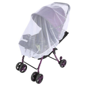 White Mosquito Net Bar Fly Insect Buggy Cover Baby Kid Stroller Pushchair Pram