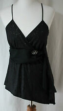 Studio 1940, Medium, Black Sparkle Top, New without Tags