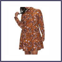NWT MUDD Juniors Women's Plus Size 1X Mock neck Long Sleeve Flared Swing Dress
