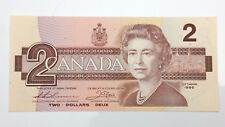 1986 Canada 2 Two Dollar BGY Prefix Canadian Uncirculated Banknote E938