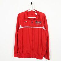 Vintage NIKE St. Johns Pep Band Small Logo Tracksuit Jacket Top Red | Medium M