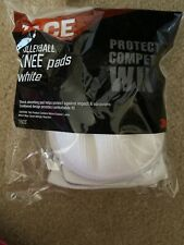 ACE Volleyball Knee Pads One Size 2 Pads White 908003 NEW