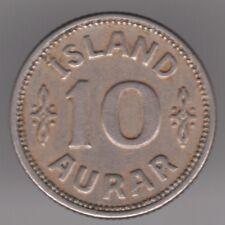 Iceland 10 Aurar 1933 Copper-nickel Coin - King Christian X