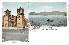 PUNO, PERU ~ CATHEDRAL & VIEW OF LAKE TITICACA ~ c. 1902