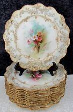 (12) Antique Royal Doulton H. Betteley Studios Floral Bone China Plates