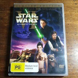 Star Wars VI Return of the Jedi LIMITED EDITION DVD R4 LIKE NEW FREE POST