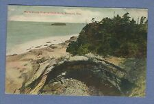 Vtg PC: Devils Punch Bowl at Otter Rock Newport Oregon Tinted 1909 Cancel
