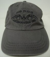US MILITARY FOB PASAB AFGHANISTAN 2011 BASEBALL STYLE HAT OFFICER/ ENLISTED EUC