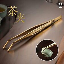 1 X Metal Tweezers Stainless Steel Kung Fu Tea Clamp Tongs Tools Coffee Bar Home
