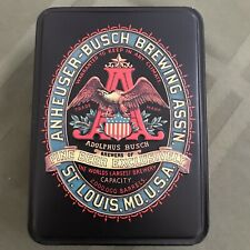 Anheuser Busch Budweiser Classic Playing Cards In Tin Box New