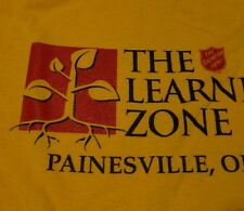 Salvation Army LOGO Day Care School LEARNING ZONE T Shirt FREE Shipping sz Large