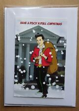 ELVIS PRESLEY Handmade Christmas Card • Rock and Roll 1950s