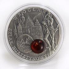 Niue 1 dollar Wroclaw Amber Route series Poland silver coin 2009