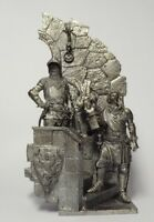 Tin soldier, figure. Italian knights at the castle of the XIV century 54 mm