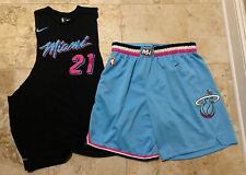 Miami Heat Nike City Swingman Shorts Mens Sz 2XL Whiteside Shirt XL Butler