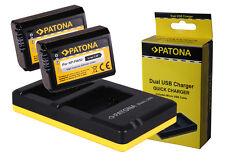 2 x Akku Patona + Doppel-, Dual-Ladegerät Sony Alpha 6300, Alpha 6500 - NP-FW50