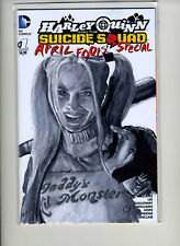 Harley Quinn Suicide Squad April Fool's Special Blank Cover Variant HENDERSON