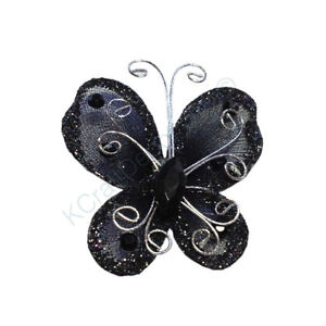 """12Pcs 3"""" Organza Butterflies Craft Wedding Party Decoration U-Pick From 16 Color"""