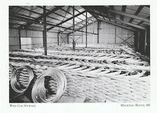 """Wire Coil Storage"" ...@ *Mackinac Bridge Michigan  {Postcard} (XT-3)"