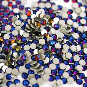 Swarovski Crystals VOLCANO Blue rhinestones gems flat back non hotfix for nails
