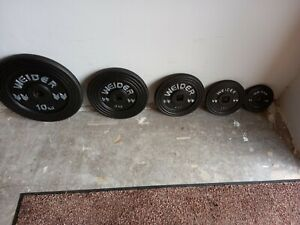 80 KGS OF WEIDER '1' INCH WEIGHT PLATES