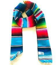 Mexican Scarf Graduation Stole Serape Blanket Sash Blue Latino Sash Men Women