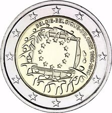 Belgien 2 Euro Münze 30 Jahre Europaflagge 2015 Gedenkmünze Stempelglanz